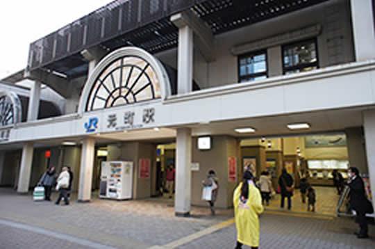 JR元町駅を背にしてください。